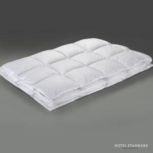 HOTEL-STANDARD Одеяло кассетное серый утиный пух 100%, тик