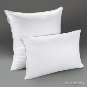 HOTEL-STANDARD Подушка спальная белый утиный пух 100%, тик
