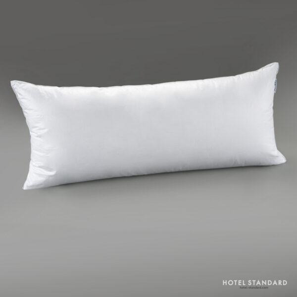 HOTEL-STANDARD Подушка спальная белый гусиный пух 70%, тик, 40x90