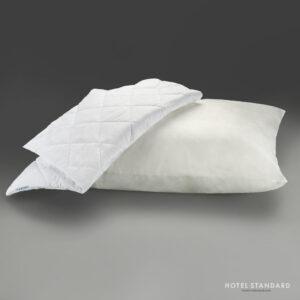 HOTEL-STANDARD Подушка спальная со съёмным чехлом поплин белый (хлопок 100%)