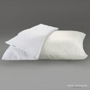 HOTEL-STANDARD Подушка спальная со съёмным чехлом ультрастеп белый (пэ 100%)