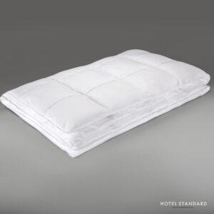 HOTEL-STANDARD Одеяло кассетное белый гусиный пух 100%, сатин