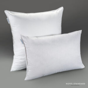 HOTEL-STANDARD Подушка спальная серый утиный пух 100%, тик